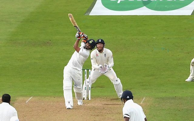 Image result for Pant hits first ball six