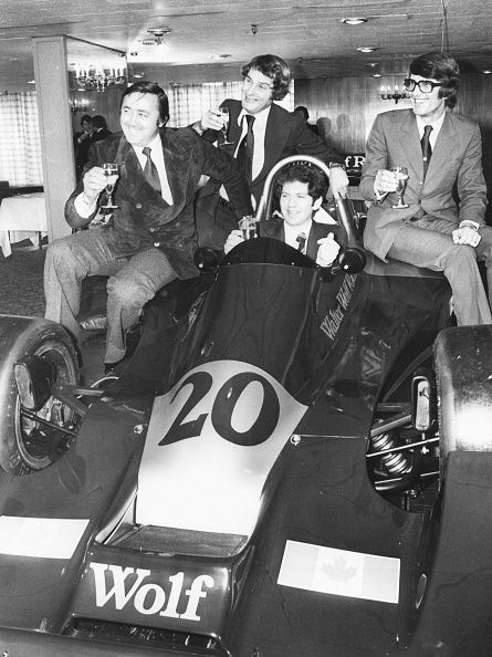 Future World Champion, Scheckter (seated, centre) stunned the F1 world on Wolf's debut
