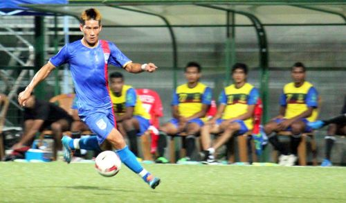 Nadong Bhutia in action for Mumbai City FC