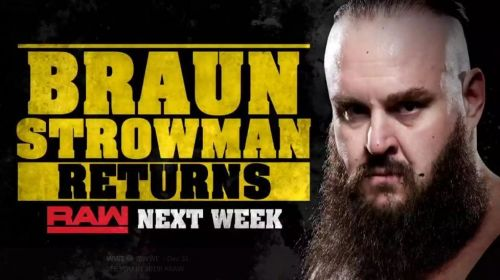The Monster Among Men will be back next week on Raw