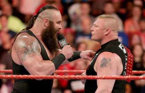 Strowman and Lesnar go one on one at the Royal Rumble