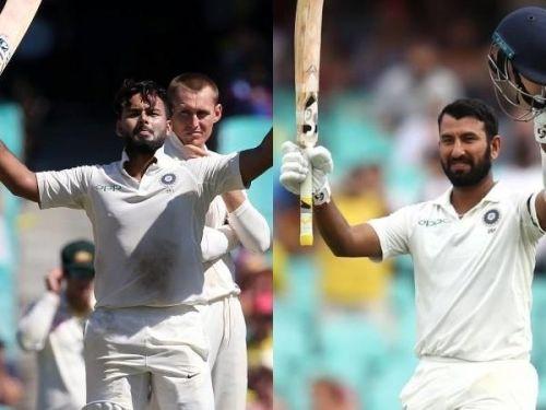 Pujrara and Pant scored centuries at SCG
