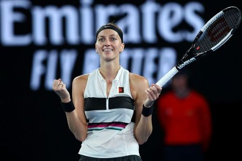Petra Kvitova after her semi-final win at the 2019 Australian Open