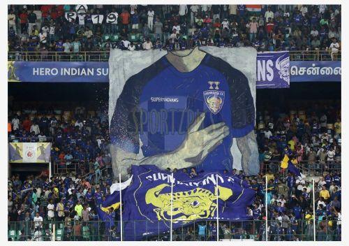Chennaiyin FC fans' tifo