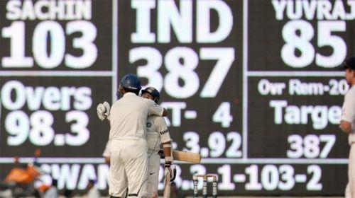 Sachin has 5 Test Centuries at Chepauk