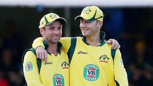 Phillip Hughes And Michael Clarke