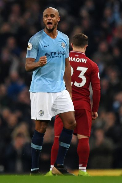 Kompany has not played for Manchester City since their meeting with Liverpool