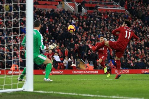 Mo Salah scored his first goal just seconds into the second half