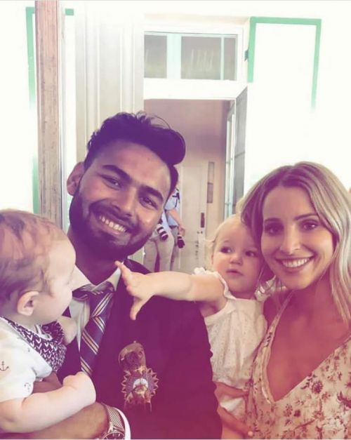 Rishabh pant with Paine's wife