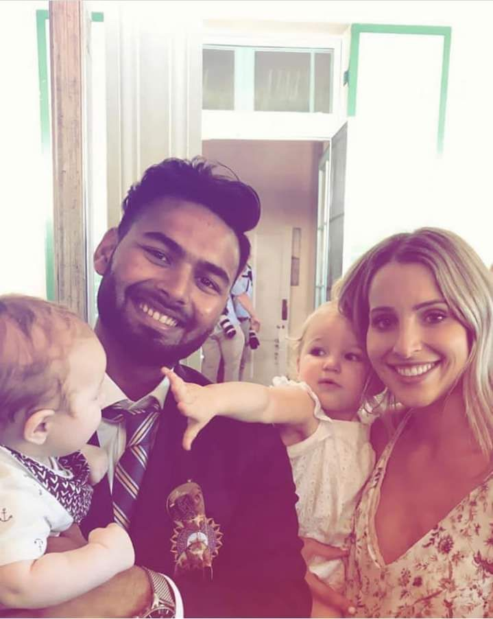 Rishabh pant with Paine