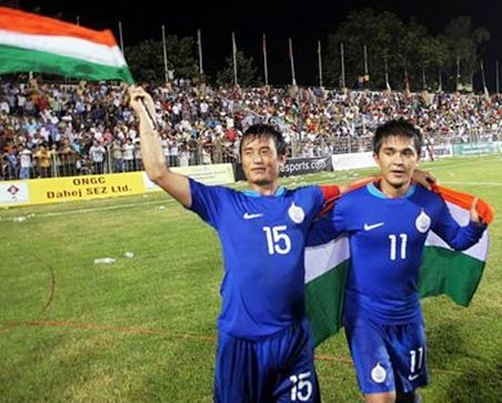 Sunil Chhetri has played less number of international matches than Bhaichung Bhutia as per AIFF