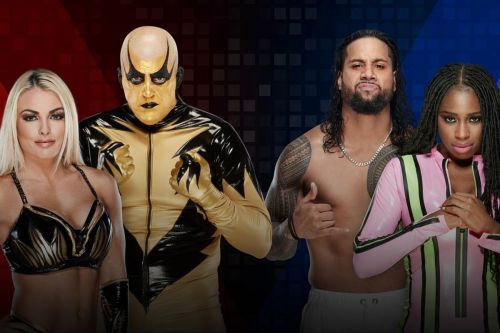 WWE Mixed Challenge Season -1, Round 1, Mandy Rose and Goldust vs Jimmy Uso and Naomi