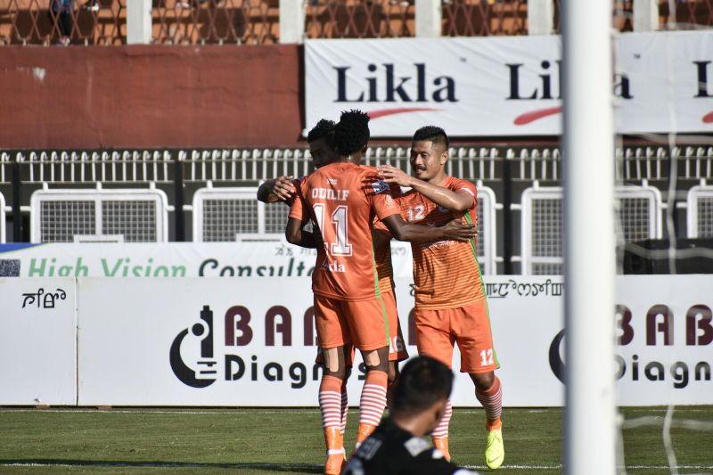 Subhash celebrates after scoring the goal
