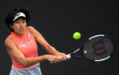 2019 Australian Open - Day 2 - Shuai Zhang from China