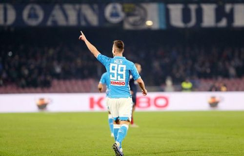 Milik is in good form for Napoli this season