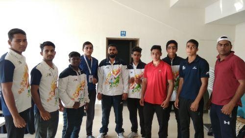 Daman and Diu boxing contingent at Khelo India Youth Games