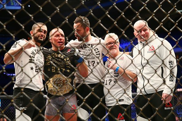 GSP won UFC gold once again at UFC 217