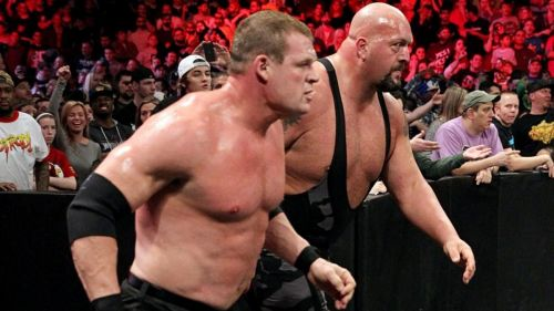 Kane and Big Show on their way to back into the 2015 Royal Rumble to attack Roman Reigns