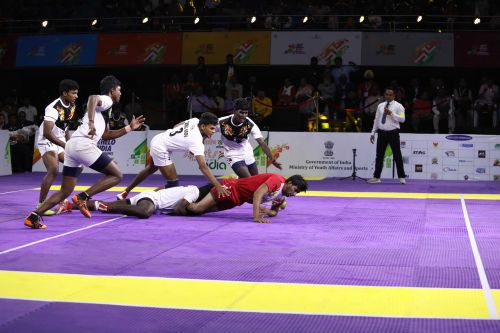 Chandigarh vs Tamil Nadu, in an exciting final in the Boys Under-21 Kabaddi at the Khelo India Youth Games. Chandigarh won via a golden raid.
