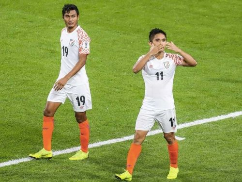Chettri's brace took India to a 4-1 win over Thailand