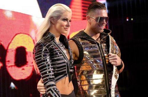 Miz with Maryse as Intercontinental Champion.