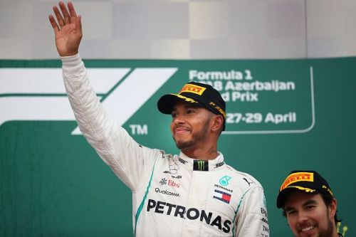 Hamilton's first win in Baku was also his first of the 2018 season.