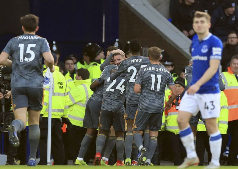 Vardy opens 2019 with winner for Leicester at Everton in EPL