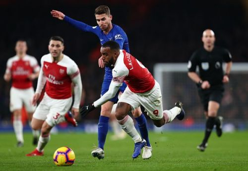 Lacazette opened the scoring in Arsenal's 2-0 win over Chelsea