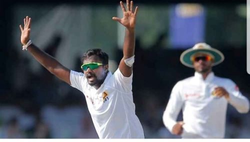 Srilankan spinner Pushpakumra takes 10 wickets in an innings