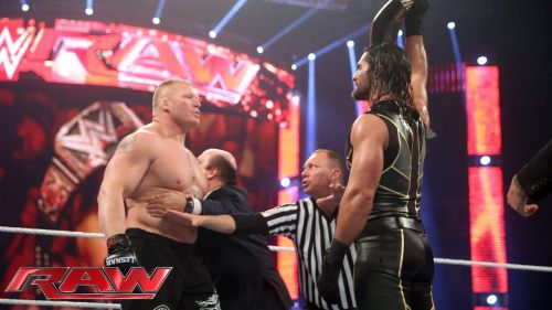 Brock and Rollins have a history after Rollins won the WWE World Championship at WrestleMania 31.