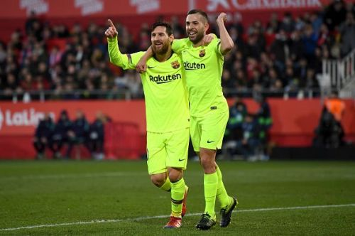 Messi ensured Barcelona preserved their lead at the top