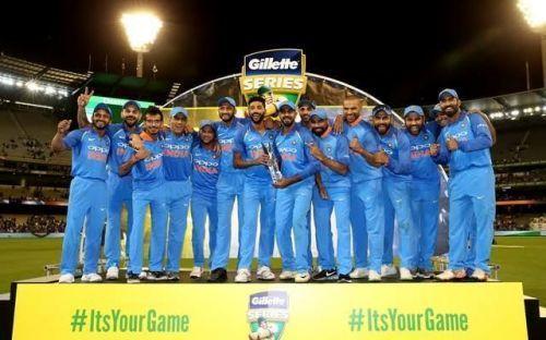 India won the series against Australia
