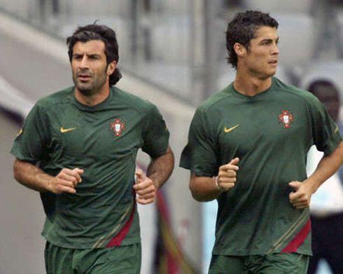 Figo and Ronaldo