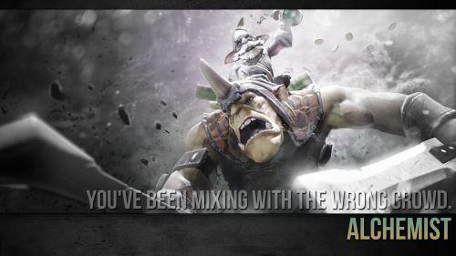 Alchemist warning about your noob teammates