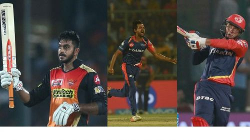 SRH's new recruits Vijay Shankar(left), Shahbaz Nadeem(