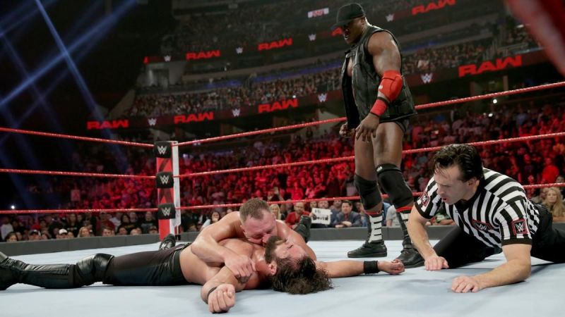 ... and Ambrose crawls over for the 1-2-3!