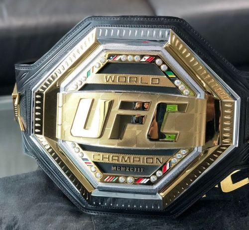 The new UFC belt design