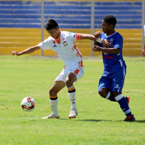 Gu Rum Choi (white) in a friendly match Ayacucho FC vs. Alianza Atlético.