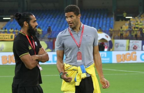 David James with Sandesh Jhinghan