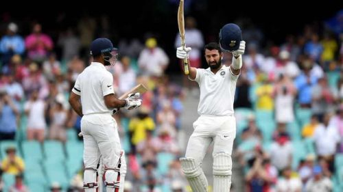 Image result for pujara 100 vs australia