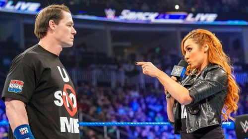 Cena appeared on last week's SmackDown Live and was confronted by Becky Lynch.