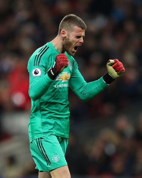 David de Gea continued to shine during Mourinho's time at United