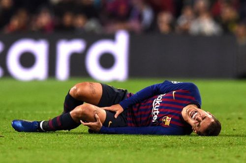 Philippe Coutinho after he was taken down against Tottenham
