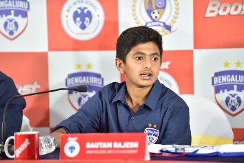 Gautam Rajesh was spotted from Bengaluru FC's Soccer Shield tournament