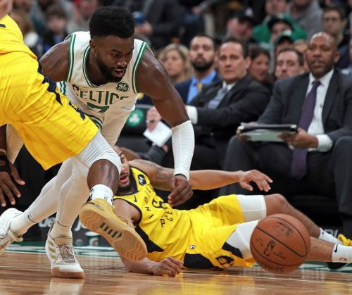 Jaylen Brown has seen a decrease in playing minutes ever since Irving's return.