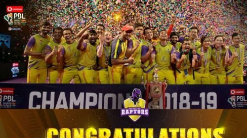 Bengaluru Raptors Team celebrating after their victory