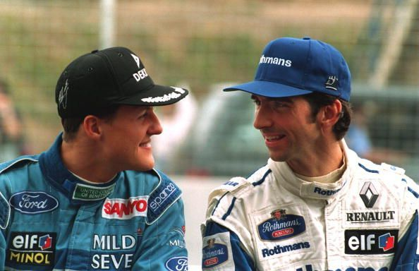 The rivalry between Michael Schumacher (left) and Damon Hill is one of F1