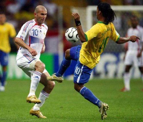 Ronaldinho and Zinedine Zidane