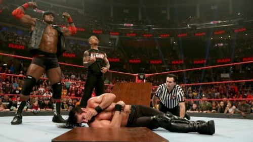 Bobby Lashley spoiled Rollins' moment.