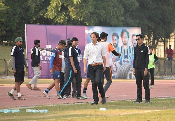 Match in question - Minerva Punjab owner Ranjit Bajaj (right) and coach Paul Munster after the game against Indian Arrows (Image: AIFF Media)